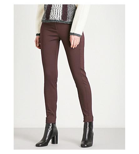 REISS Darlas-skinny mid-rise trousers (Ox+blood