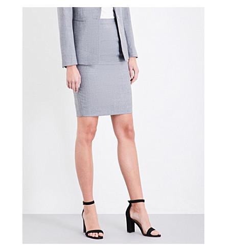 REISS Austin high-rise wool skirt (Grey