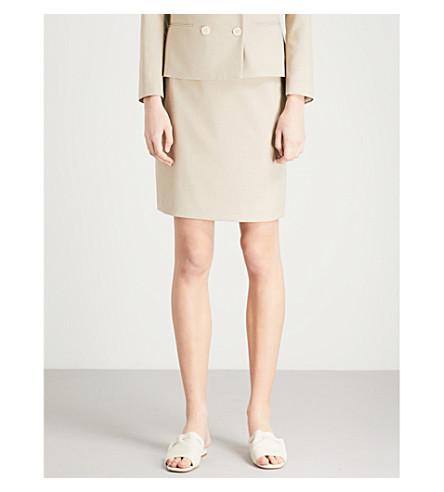 REISS Maddox twill skirt (Camel