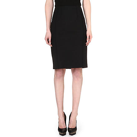 REISS Seliana raised-seam pencil skirt (Black/white