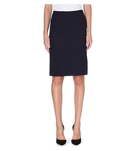 REISS Tami tailored pencil skirt (Navy