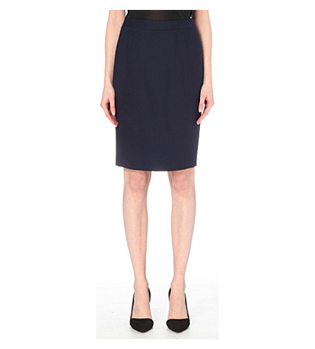 REISS Delo stretch-cape skirt (Night+navy