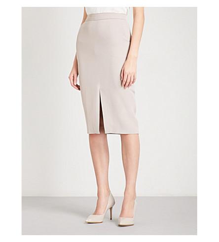REISS Karmel crepe skirt (Fawn