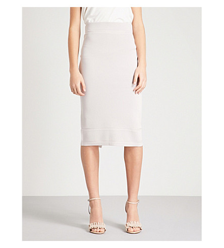 REISS Guardian knitted pencil skirt (Ash