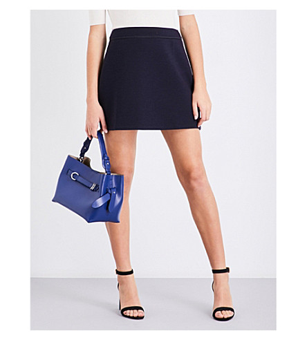 REISS Greta jersey mini skirt (Night+navy
