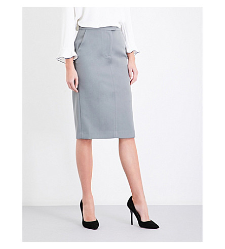 REISS Era satin pencil skirt (Cinder