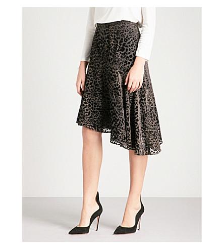 REISS Neelam devoré skirt (Black/grey