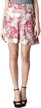 REISS Siusi lotus print skirt