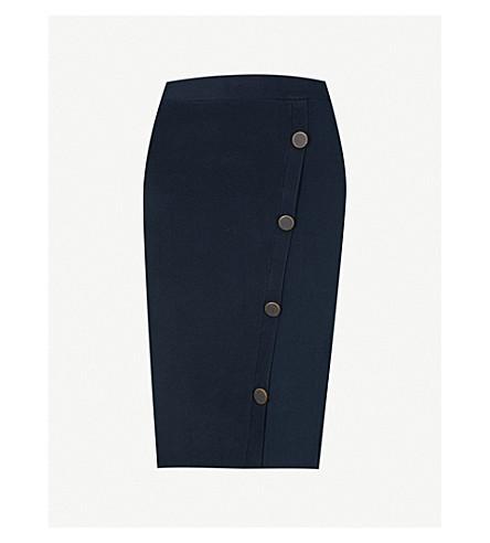 REISS Lanie knitted mini skirt (Midnight