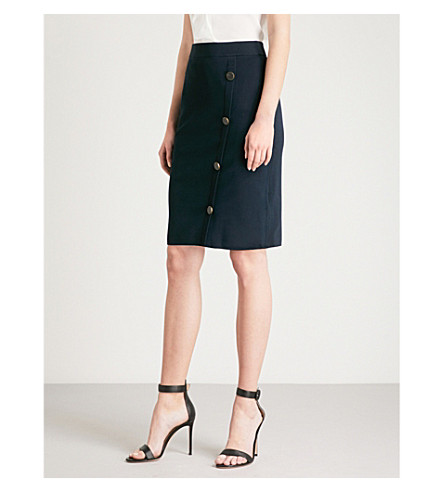 REISS Lanie knitted mini skirt (Midnight