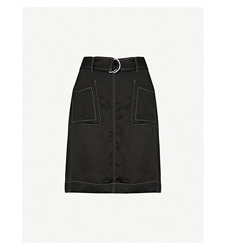 REISS West satin skirt (Black