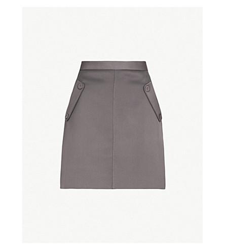 REISS Gene pocket-detail woven skirt (Charcoal