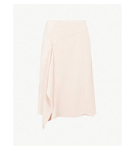 REISS 编织的朱莉娅丝绸悬垂裙 (富 + 腮红