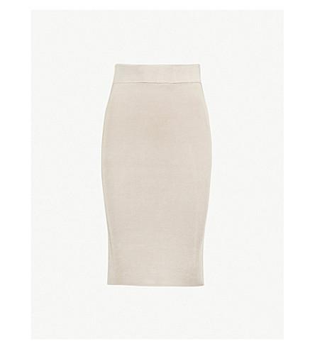 REISS Tate knitted skirt (Neutral