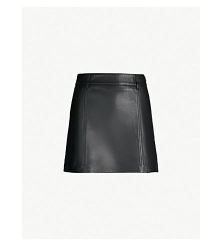 9ef41fd422ff ... REISS Mimi high-rise leather mini skirt (Black. PreviousNext