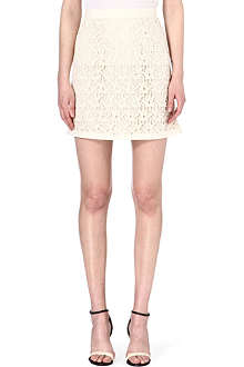 REISS Lobo crochet-lace skirt