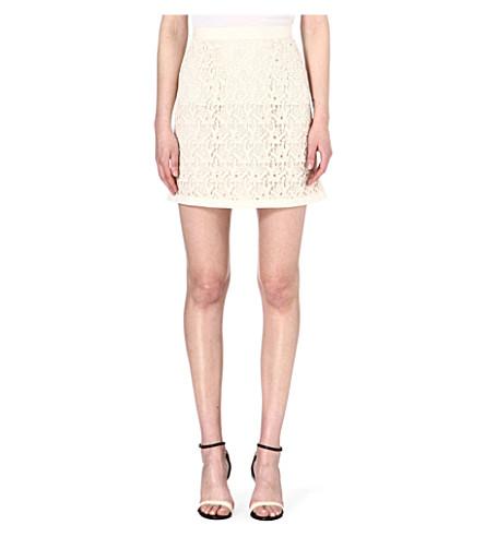 REISS Lobo crochet-lace skirt (Cream