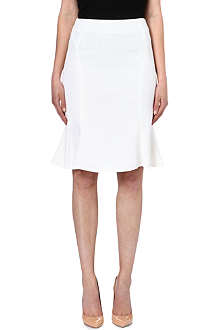 REISS Sandra fluted-hem skirt