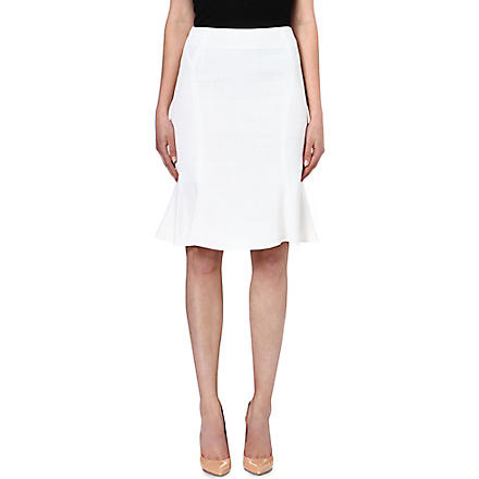 REISS Sandra fluted-hem skirt (Cream
