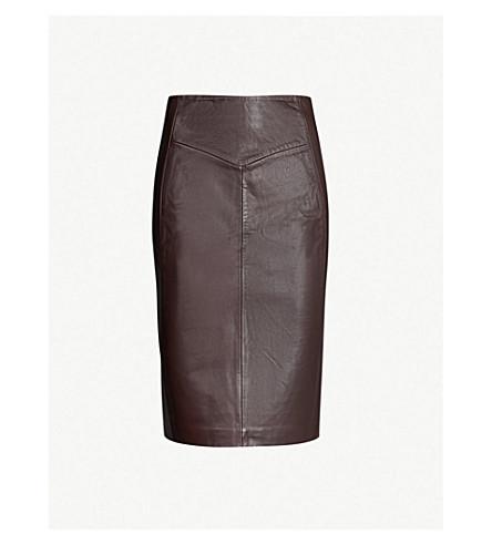 REISS Megan high-rise pencil skirt (Ox blood