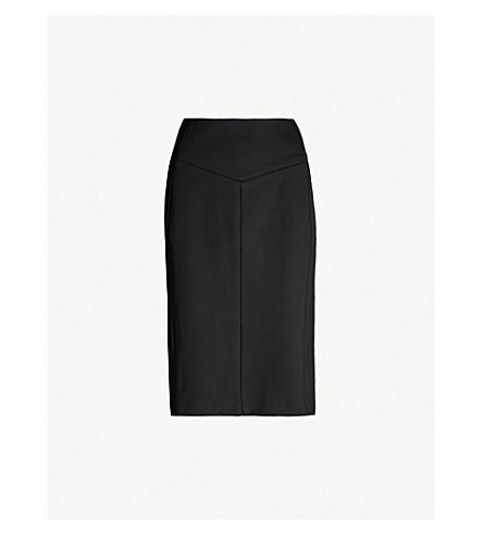 REISS Abena stretch-woven pencil skirt (Black