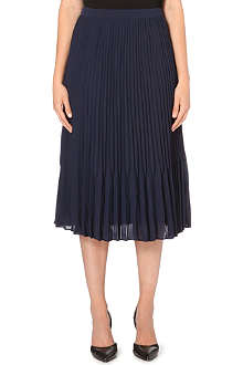 REISS Pleated midi skirt
