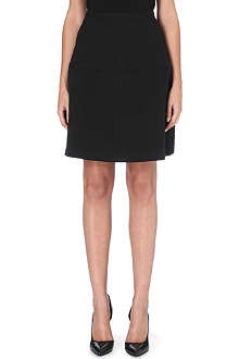 REISS Hayden textured circle skirt