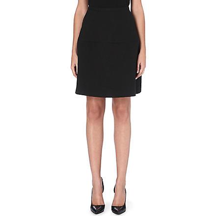 REISS Hayden textured circle skirt (Black