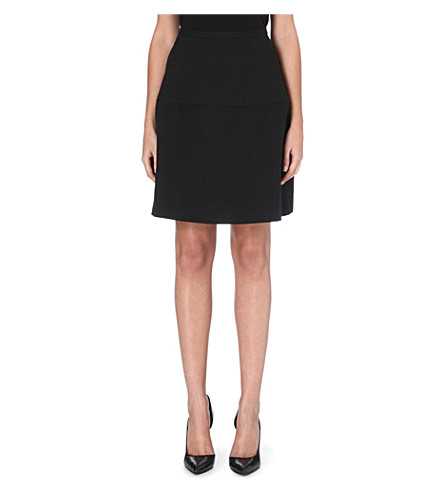 REISS Hayden textured circle skirt (Black