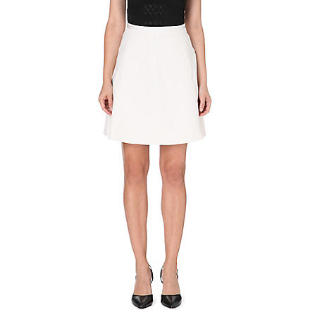 REISS Reno A-line stretch-crepe skirt (Oyster