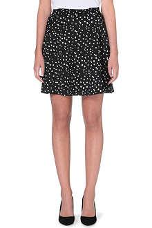 REISS Dalmatian print skirt