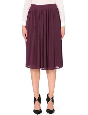 REISS Helena pleated skirt