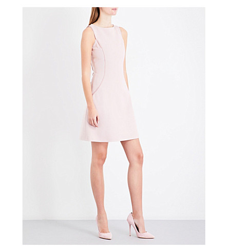 REISS April contoured stretch-knit dress (Fragrant+pink