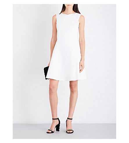 REISS Cara textured cotton-blend dress (Off+white