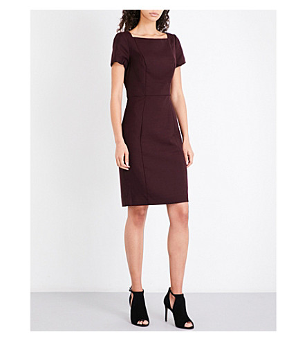 REISS Atlee wool-blend dress (Berry