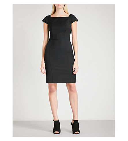 REISS Huxley tailored-fit wool-blend dress (Black