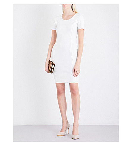 REISS Skyler knitted mini dress (Off+white
