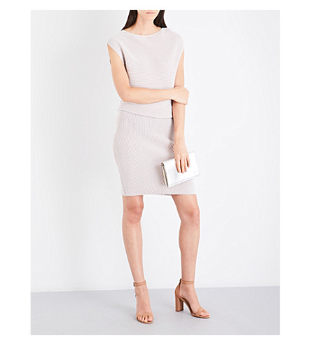 REISS Simone knitted dress (Nude
