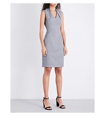 REISS Austin V-neck wool dress (Grey