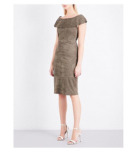REISS Fray suede dress (Light+khaki
