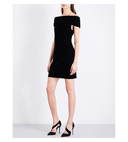 Reiss Verity Off The Shoulder Velvet Mini Dress Selfridges