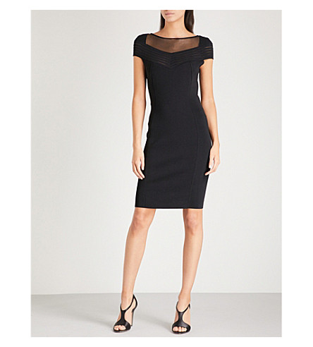 REISS Lana knitted dress (Black