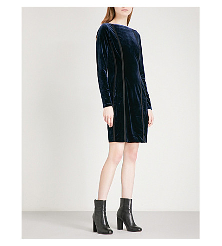 REISS Xina open-back velvet dress (Midnight