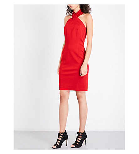 REISS Zaira stretch-knit dress (Crimson