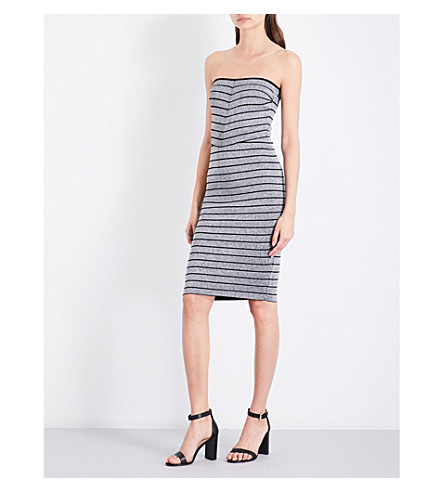 REISS Kym metallic stretch-knit dress (Silver