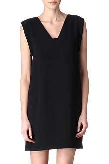 REISS Pepper frill-back dress
