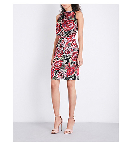 REISS Xavi satin dress (Multi