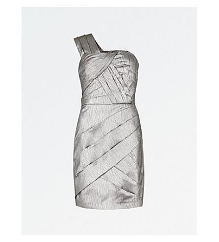 REISS Uma woven dress (Metallic