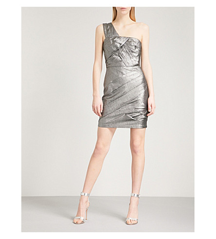 REISS Uma woven dress (Metallic