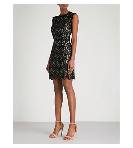 REISS Sami lace mini dress (Black